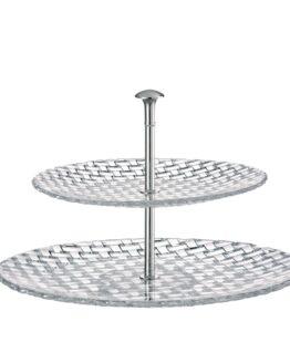 Bossa Nova Two tier tray large 32cm +23 cm