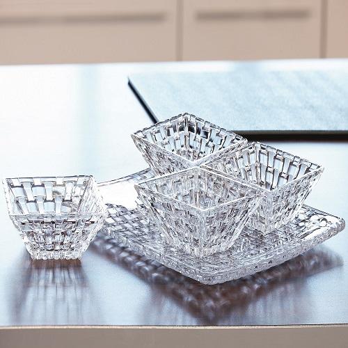 Bossa Nova Square Plate +4 bowl – 5 Pcs gift set