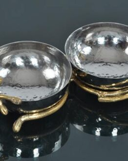 SNACKS BOWL Dimension 22x12x7 (cm) MaterialS.STEEL WITH BRASS