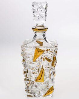 Bohemia Crystal Gold Decanter