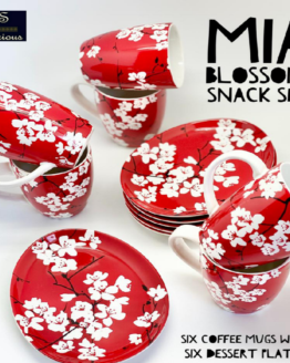 Snack Set Mia Blossom Red Set Of 12