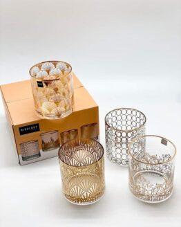 MIXOLOGY Gold Decal Tumbler Set of 4Pcs Giftbox