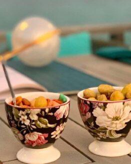 Gisela Black Ice-Cream 6 Cup with 6 Ice-cream Spoon
