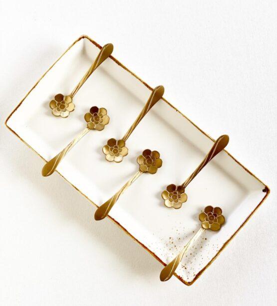 Bloom Gold Dessert Spoons set of 6pcs