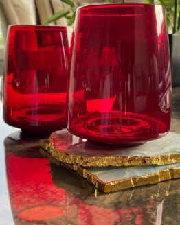 Red Color Glass 300ml
