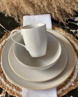 "CONCRETE WHITE ""16 Pcs DINNER SET"